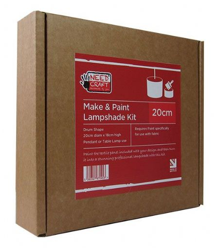 Make & Paint - 20cm Drum Lampshade Making Kit